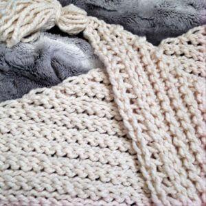 crochet tassel scarf