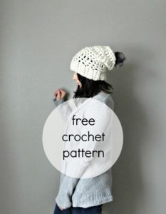 free slouchy hat crochet pattern, beanie crochet patterns, chunky hat crochet pattern, winter hat pattern crochet, free hat patterns crochet