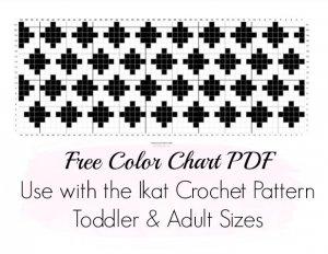 ikat color chart pattern