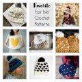 fair isle crochet patterns / free crochet patterns / faux knit crochet patterns / crochet basket pattern