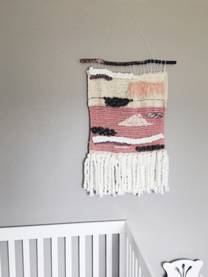 crochet wall hanging tutorial, boho wall hanging diy