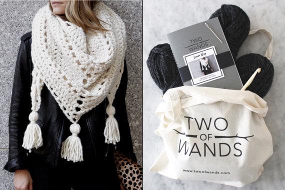 crochet scarf kit, gift guide for yarn lovers, crochet gadgets, crochet kit