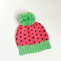 crochet watermelon hat pattern, crochet hat patterns, crochet for kids