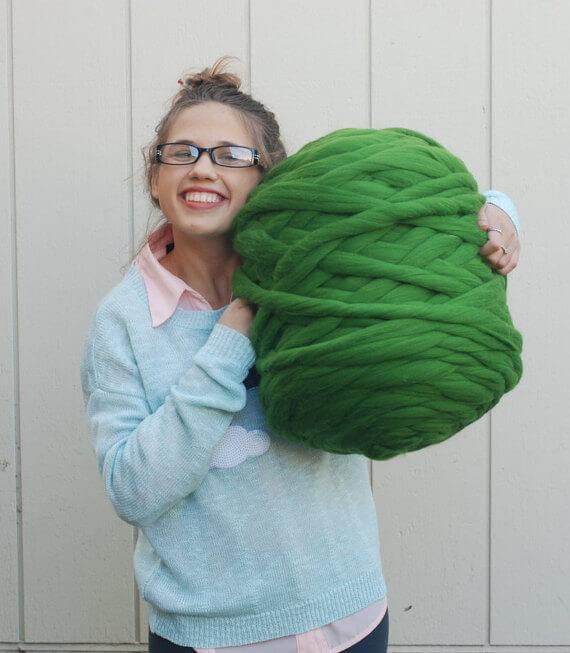 jumbo merino wool, knit wool blanket yarn, unique gifts for crocheters