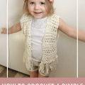 toddler crochet vest pattern, crochet vest with fringe pattern, boho toddler vest crochet pattern free