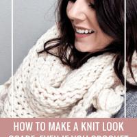 knit look scarf crochet pattern, crochet pattern triangle scarf