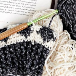 ikat crochet hat pattern