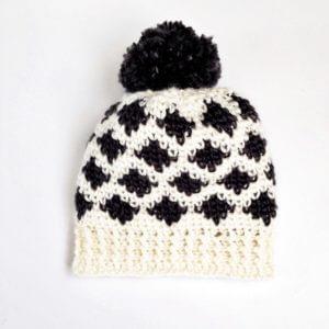 free ikat crochet pattern, modern crochet patterns, toddler crochet hat pattern, crochet hats for women