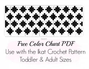ikat color chart pattern