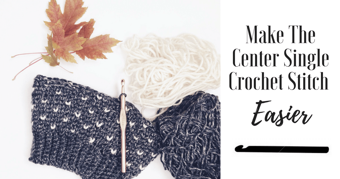 how to center single crochet stitch.. How to fair isle crochet with the waistcoat stitch