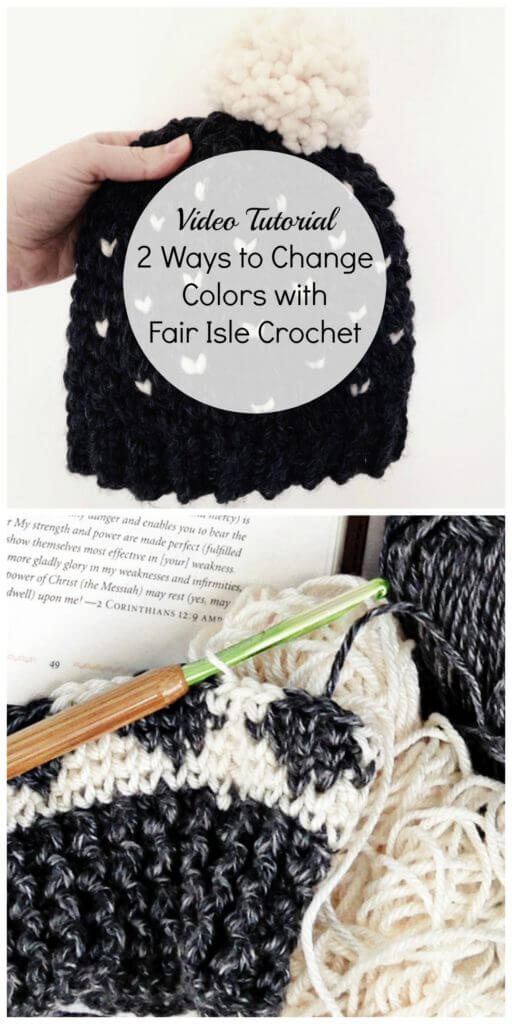 how to change colors in fair isle crochet and tapestry crochet