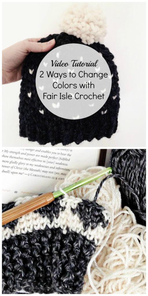 change colors in fair isle crochet