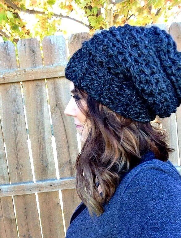 The Best Slouchy Hat Crochet Pattern For Beginners + Video Tutorials e2fd9b6ae71