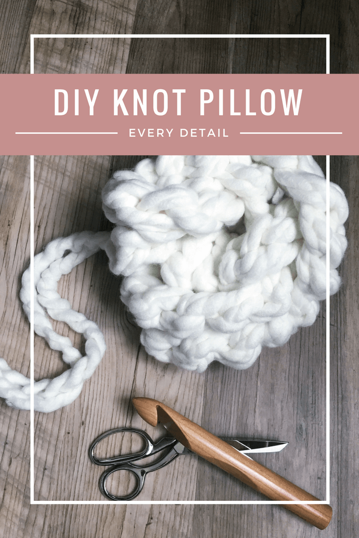 knot pillow tutorial, diy knot pillow, crochet pillow