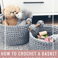 basket crochet pattern, crochet basket with handles pattern, crochet basket pattern
