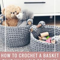 basket crochet pattern, crochet basket with handles pattern, crochet basket pattern