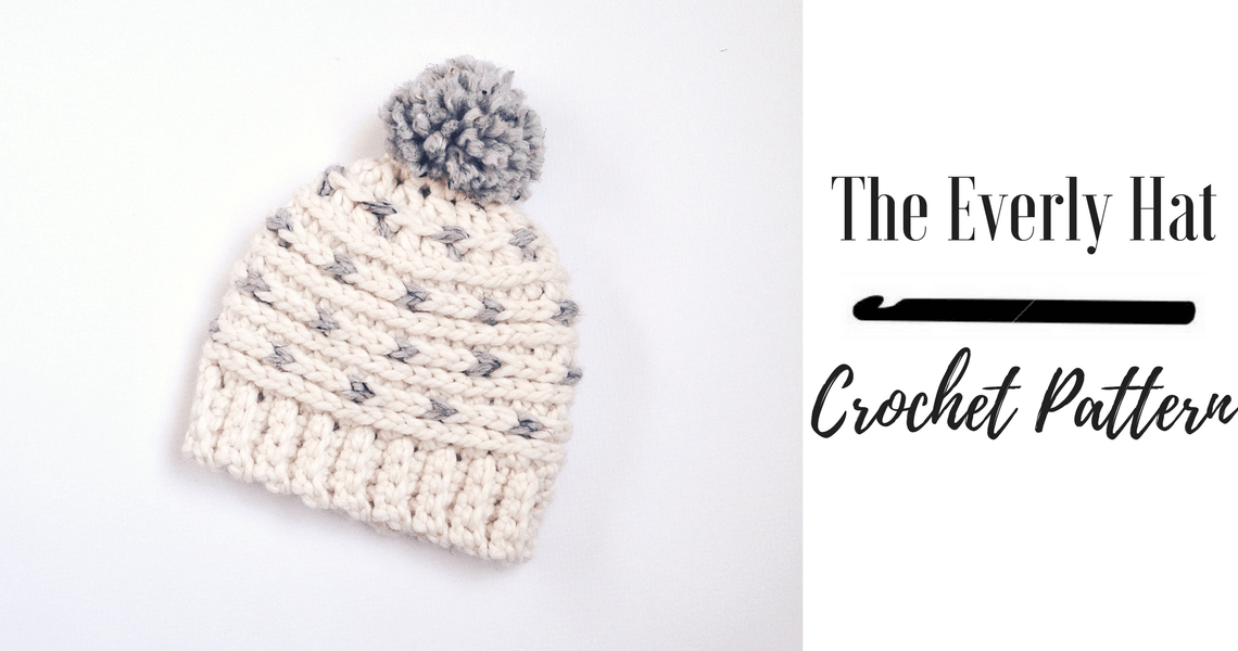 A modern crochet hat pattern for the whole family.