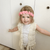 toddler crochet vest pattern, crochet vest with fringe, boho toddler vest crochet pattern