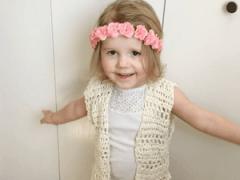 toddler crochet vest pattern, crochet vest with fringe, boho toddler vest crochet pattern