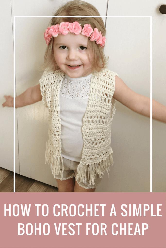 toddler crochet vest pattern, crochet vest with fringe pattern, boho toddler vest crochet pattern free