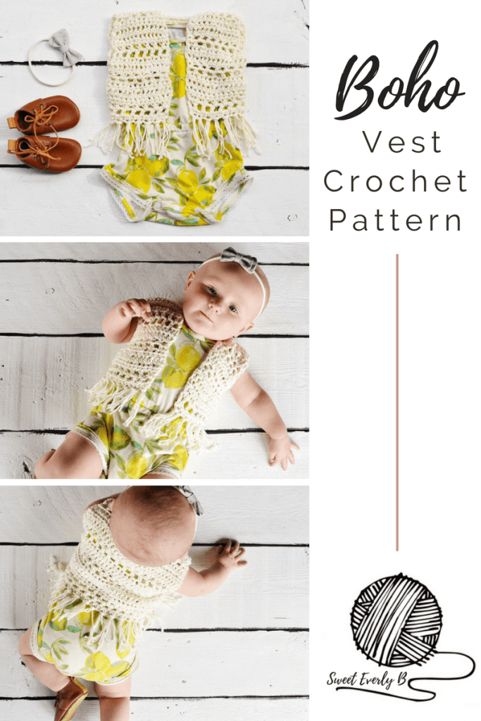 baby crochet vest pattern, crochet fringe vest pattern, free baby crochet patterns for beginners, infant boho vest crochet pattern