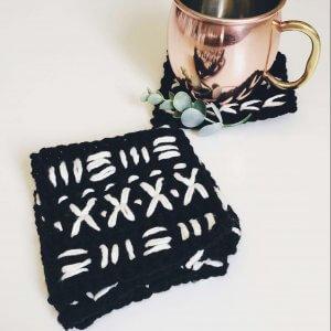 easy crochet coasters for beginners, crochet coaster pattern free, easy crochet patterns, home decor crochet patterns