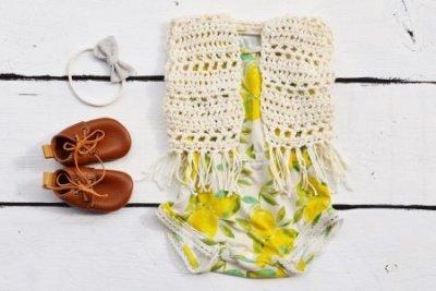 baby boho vest crochet pattern, baby crochet vest pattern, crochet vest with fringe pattern, simple crochet vest pattern, infant crochet vest pattern