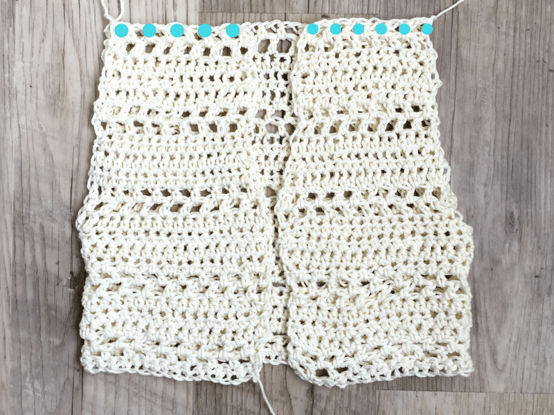 how to sew together shoulder seams on a crochet vest pattern