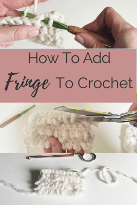 add fringe to crochet, crochet loop stitch