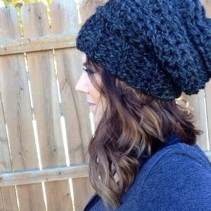 How to crochet a slouchy hat for beginners.