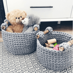 crochet basket pattern, basket crochet pattern with handles