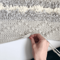 crochet puff stitch, puff stitch crochet tutorial