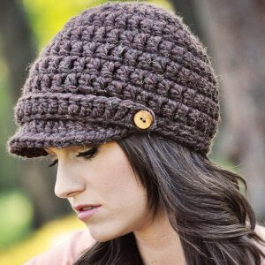 220ea718505 Basic Newsboy. Little Bear Cable Hat. free halloween crochet patterns ...
