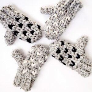 mitten crochet pattern for kids