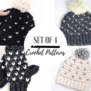 crochet pattern set for fair isle crochet