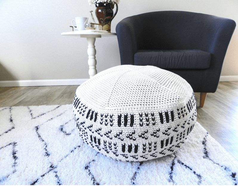 A Giant Crochet Pouf Pattern That Will Add A Cozy Feel To Your Room