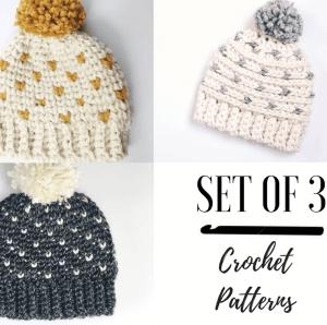hat crochet patterns for winter
