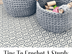 how to crochet a sturdy basket