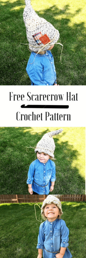 A free toddler scarecrow hat crochet pattern you'll want to make. The simple pattern is perfect for beginners and only take an hour to make. A free Halloween crochet pattern to make the best DIY costume.
