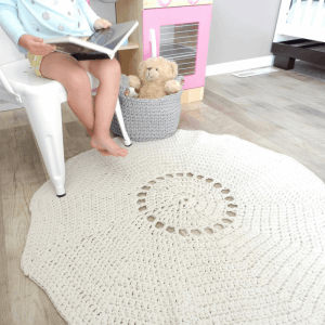 how to crochet a rug out of yarn