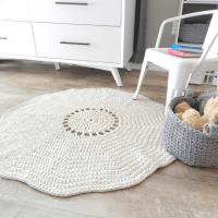 giant crochet rug, crochet circle rug
