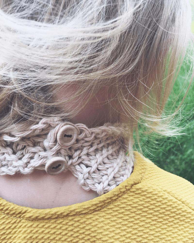 button cowl crochet pattern for kids