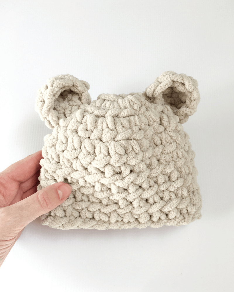 252ac545196 How To Make The Softest Baby Bear Hat Crochet Pattern