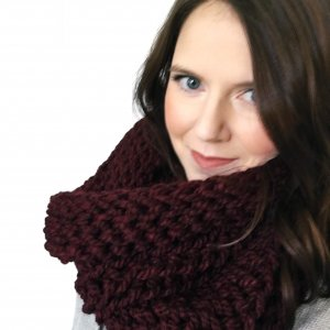 A chunky crochet scarf pattern that lays perfect every time you wear it.