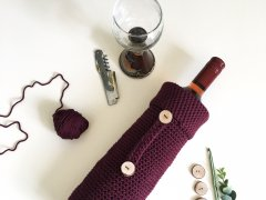 A wine bottle gift bag is the best hostess gift. Crochet gift ideas you'll want to give to your friends.