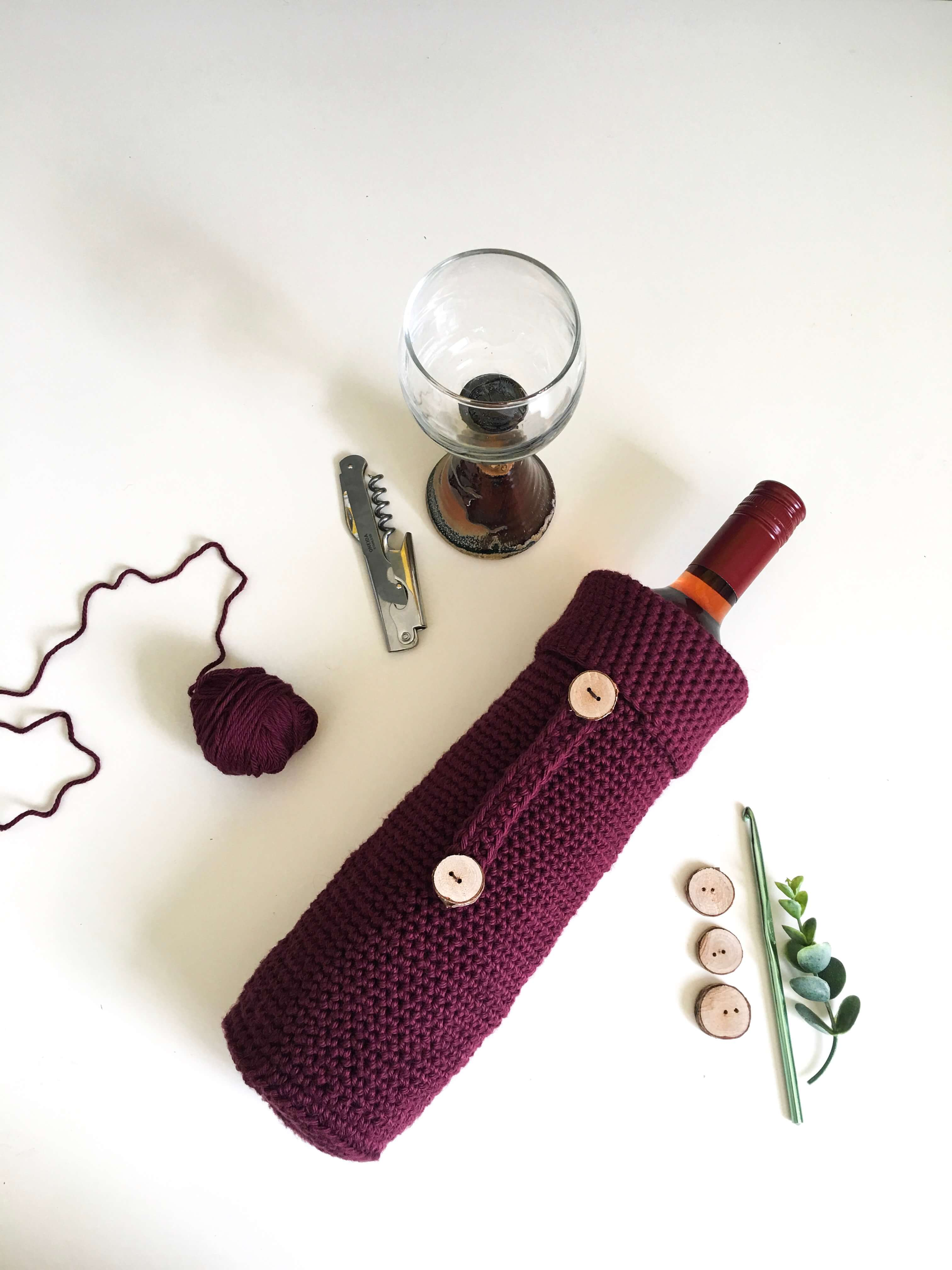 How To Make A Crochet Wine Bottle Cover The Best Hostess