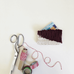 A DIY gift card holder that adds personality to a basic gift. Find modern crochet ideas your family will love, if you can part with them!