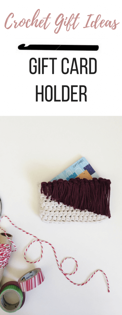 A free crochet gift card holder pattern that your friends will love. Add a meaningful touch to a basic gift with this DIY gift card holder. The fringe is darling!