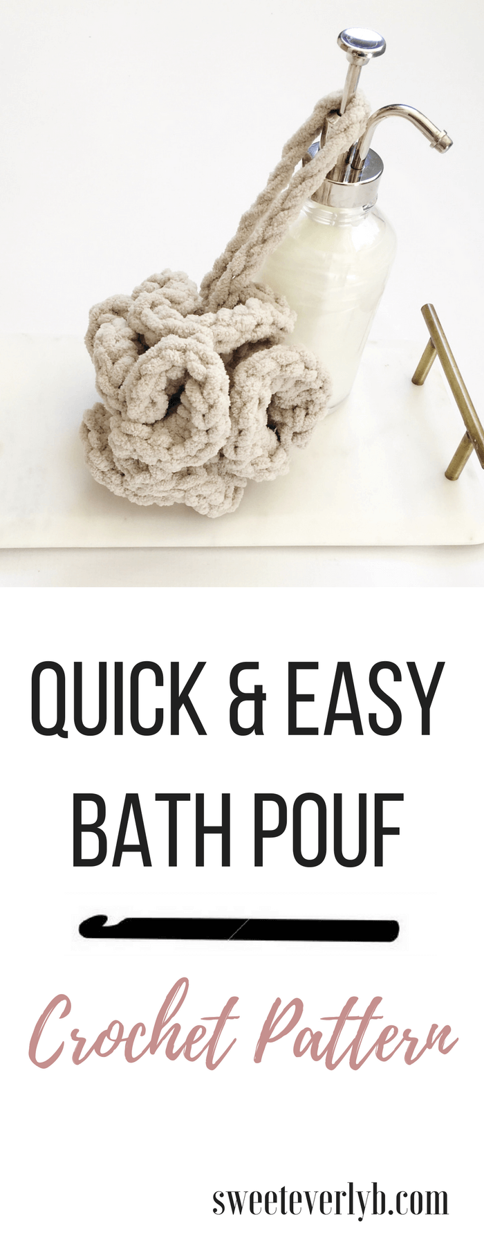 A free crochet bath pouf pattern that makes a great DIY gift. You can make this gift in 30 minutes!