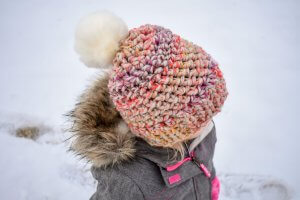 chunky yarn crochet hat pattern for the kids and adults